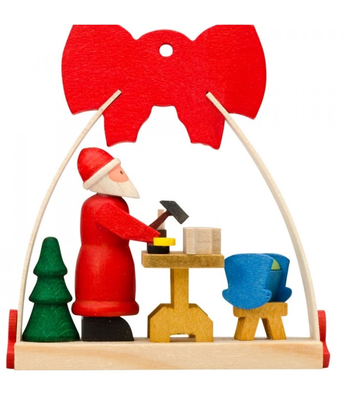 ornement pour le sapin de noel avec un noeud rouge fabrication de jouets. Black Bedroom Furniture Sets. Home Design Ideas