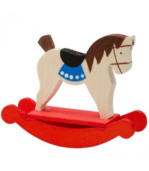 Figurine d corative pour sapin cheval de bois - Decoration en bois pour sapin de noel ...