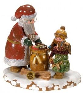 Winterkinder enfants et père Noël