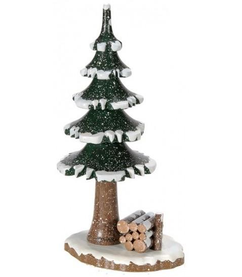Accessoire De D Coration Pour Figurines Winterkinder Sapin Et Tas De Bois