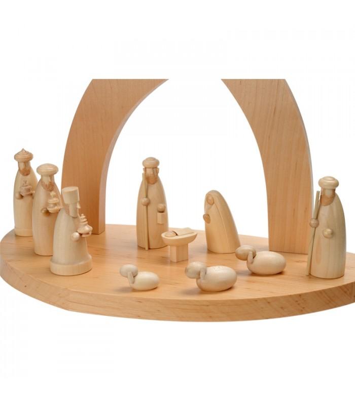 Cr che de no l en bois 20 cm fabriquer soi m me l 39 aide - Modele de creche de noel en bois a fabriquer ...