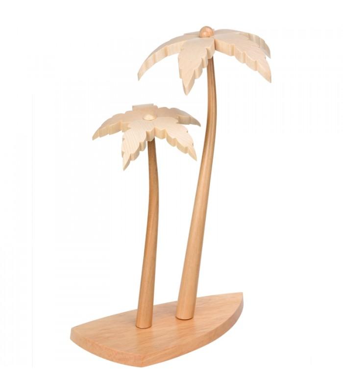 2 palmiers en bois pour d 233 corer une cr 232 che de no 235 l