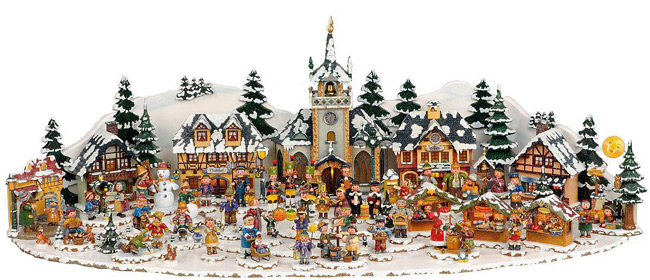 Decoration de noel enfant village de noel miniature hubrig klaus boutik - Village de noel miniature ...