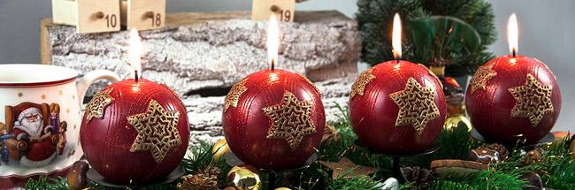 bougies de Noel rouges