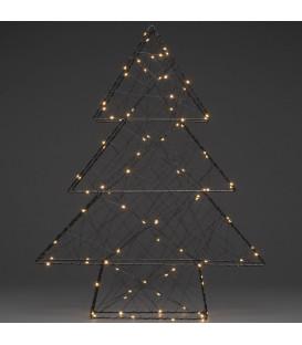 Sapin de Noël lumineux 100 diodes Led, 60 cm, noir