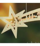 Grande étoile lumineuse à suspendre