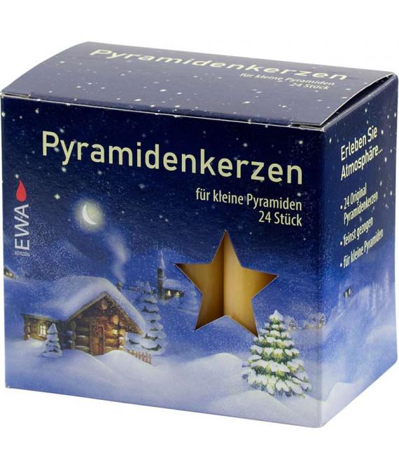 24 Bougies ocre 14 mm pour manège de Noel