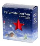 Bougie rouges 17 mm pour pyramide de Noël, pyramidenkerzen