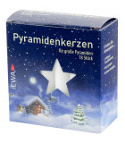Bougies 17 mm blanches pour pyramide allemande, pyramidenkerzen