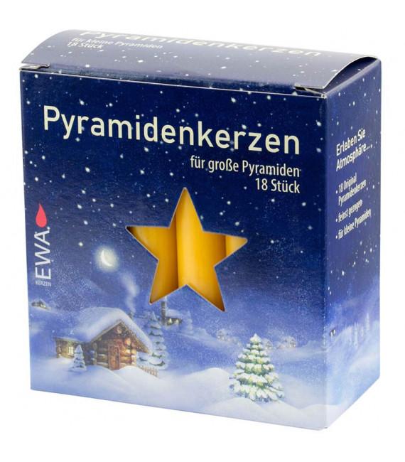 Bougies pour pyramide de Noël, ocre 17 mm