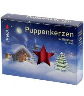 Bougies anniversaire, Puppenkerzen 10 mm