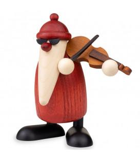 Figurine père Noël violoniste