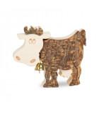 Petite vache en bois, 6 cm