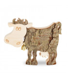 Vache en bois, 9 cm