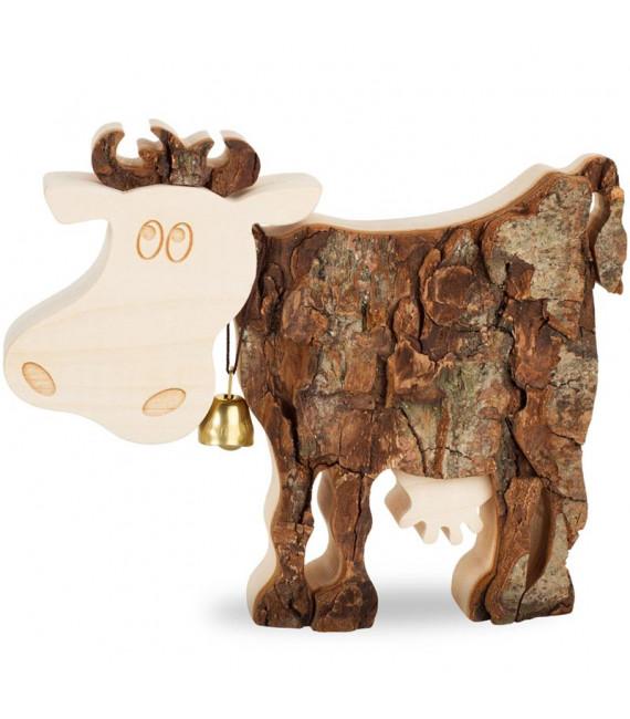 Vache bois, 12 cm