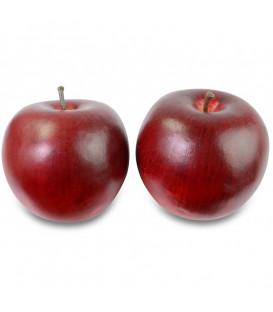 Pomme décorative rouge, 8 cm