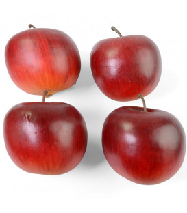 Pomme décorative rouge, 6,5 cm