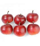 Pommes décoratives rouges, 4 cm