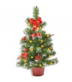 Sapin de Noël lumineux avec déco, 50 cm
