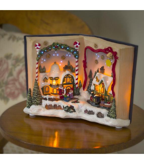 Livre de Noël musical lumineux