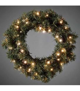 Couronne de Noël lumineuse sapin, 45 cm