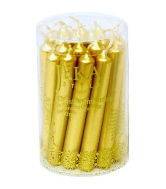 Bougies pour sapin de Noël, rustique 13 mm doré
