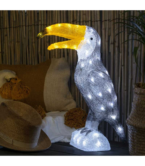 Oiseau lumineux Led, Toucan 48 cm