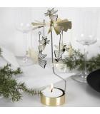 Grand carrousel de Noël anges dorés volants, 28 cm