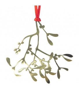 Déco sapin de Noël, branche de gui à suspendre