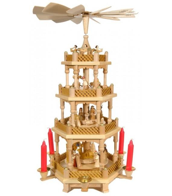 Weihnachtspyramid allemande 3 étages