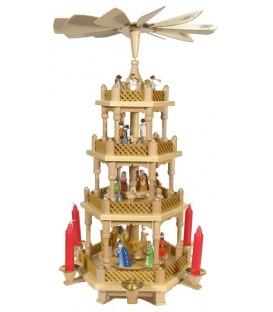 La Weihnachtspyramid allemande de référence à 3 étages