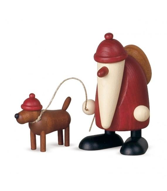 Père Noel décoratif et son chien