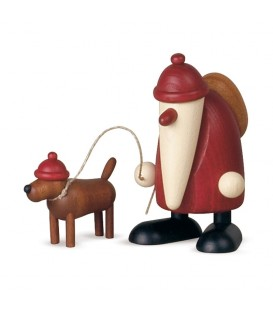 Père Noël rouge et son chien