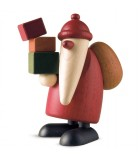 Père Noël en bois et cadeaux