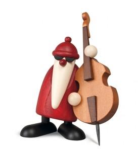 Figurine père Noël contrebassiste