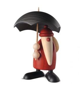 Figurine père Noël sous parapluie