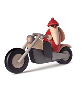 Père Noël rouge à moto