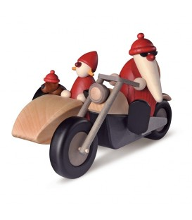 Père Noël rouge en side-car