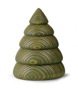 Sapin de Noël en bois design, 9,5 cm, vert