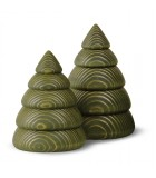 Sapin de Noël en bois design, 11,5 cm, vert