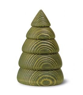 Grand sapin de Noël en bois design, 14 cm, vert