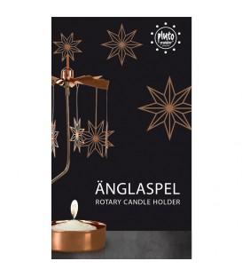 Photophore de Noël motif étoiles cuivre