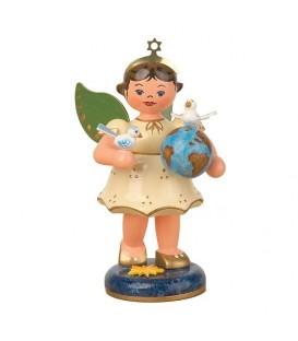 Figurine ange de Noël et colombes de la paix