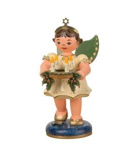 Figurine ange de Noël et couronne de l'avent