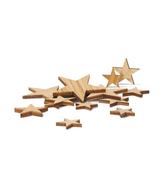 Etoiles décoratives en bois pour table de Noël