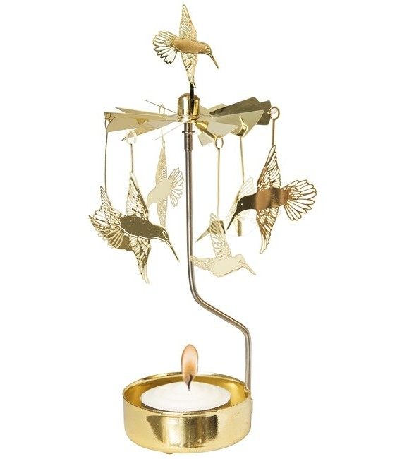 Bougeoir carrousel colibri