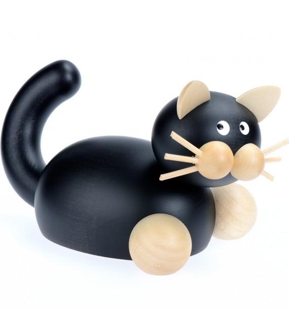 Statuette chat noir