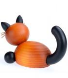 Figurines chats en bois peint