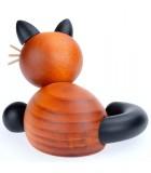 Petits chats en bois peint