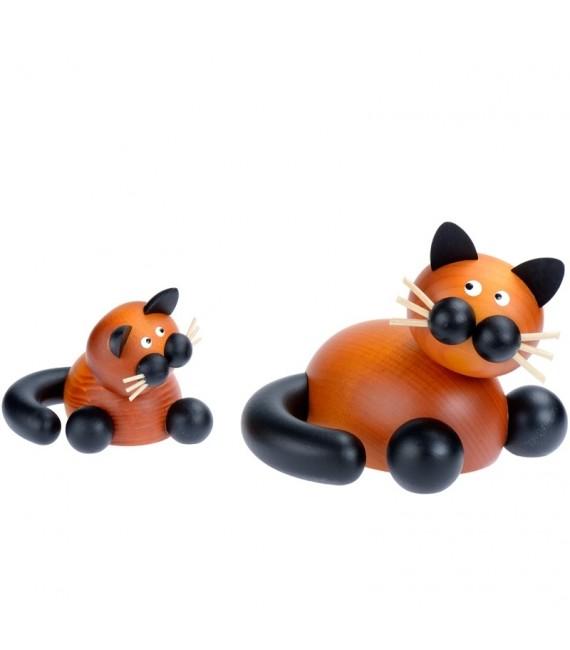 Statuettes en bois deco chats